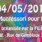 Conférence de la FILE sur l'approche Montessori pour les 0 à 6 ans