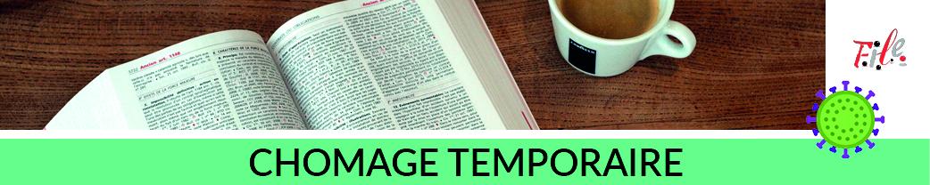 Covid Bandeau titre Chomage temporaire 250 x 50